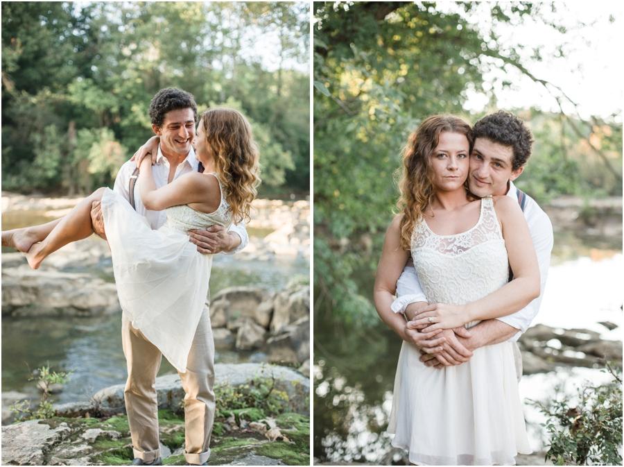 romantic bohemian engagement, vintage engagement photographers