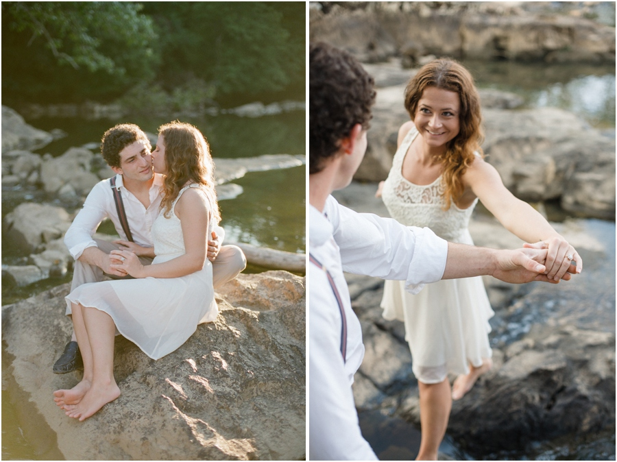 romantic bohemian engagement, intimate engagement photography