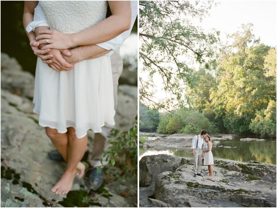 north carolina engagement photography, romantic river engagement photography