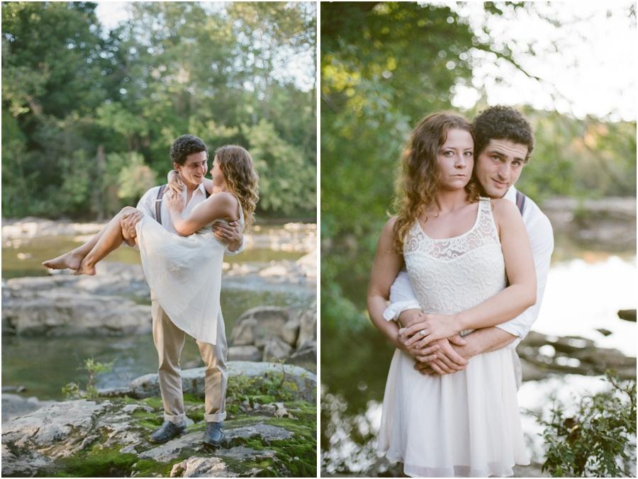 romantic engagement portrait poses, bohemian engagement photographers