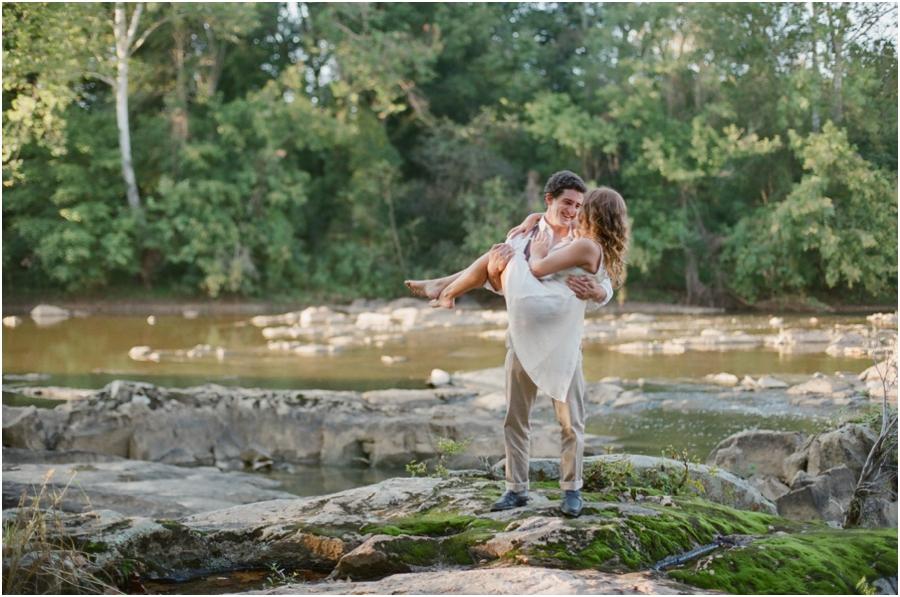 romantic bohemian engagement photography