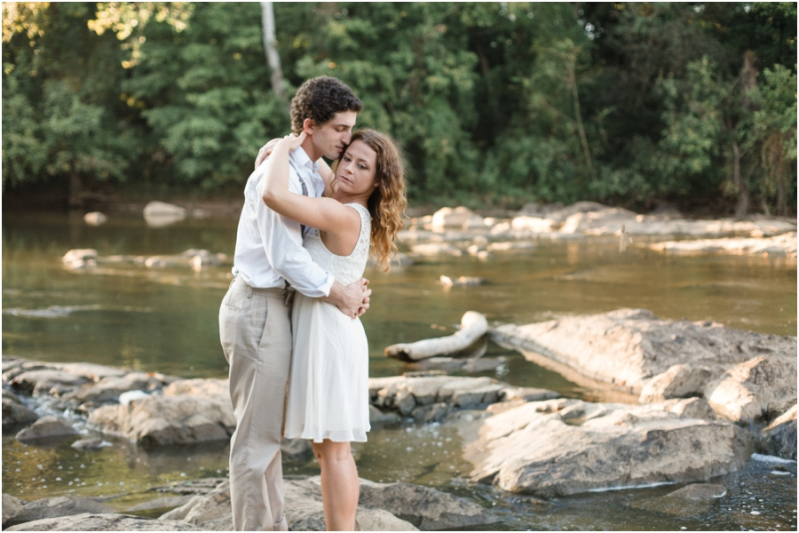 river engagement photography, raleigh nc