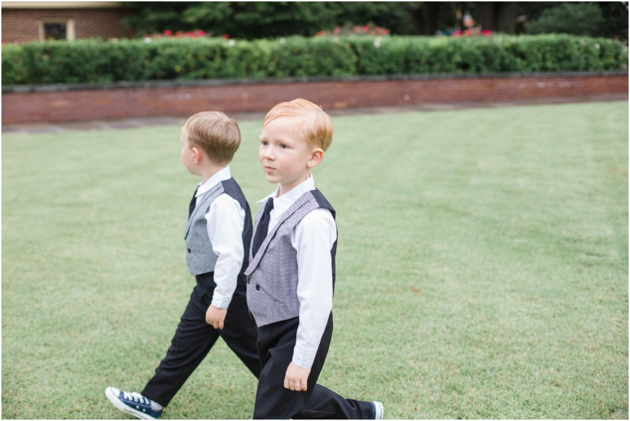 ring bearers at outdoor wedding, southern wedding photographers