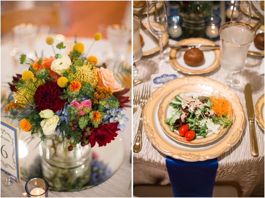 fresh floral centerpieces, southern wedding reception photography