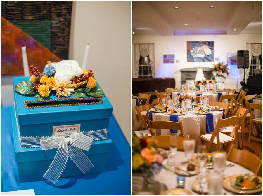 card box for wedding, southern wedding reception photography
