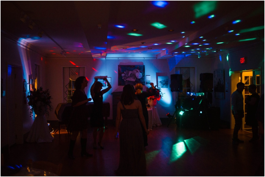 guests on the dance floor at wedding reception, southern wedding photographers