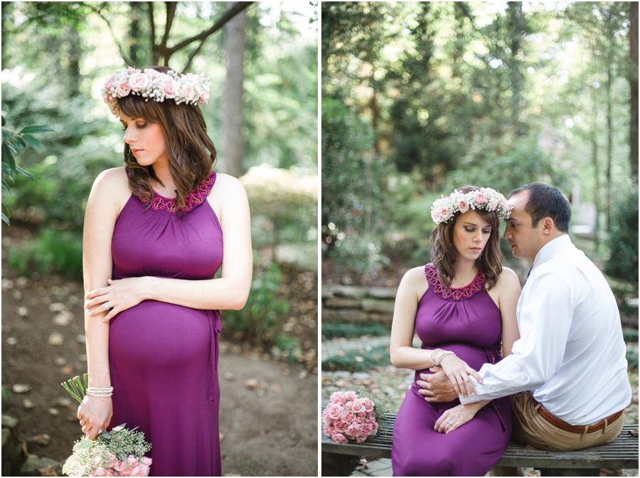 outdoor maternity photography, romantic garden maternity photographers