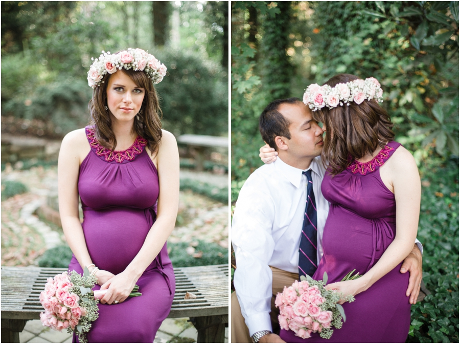garden maternity photography, romantic maternity photographers