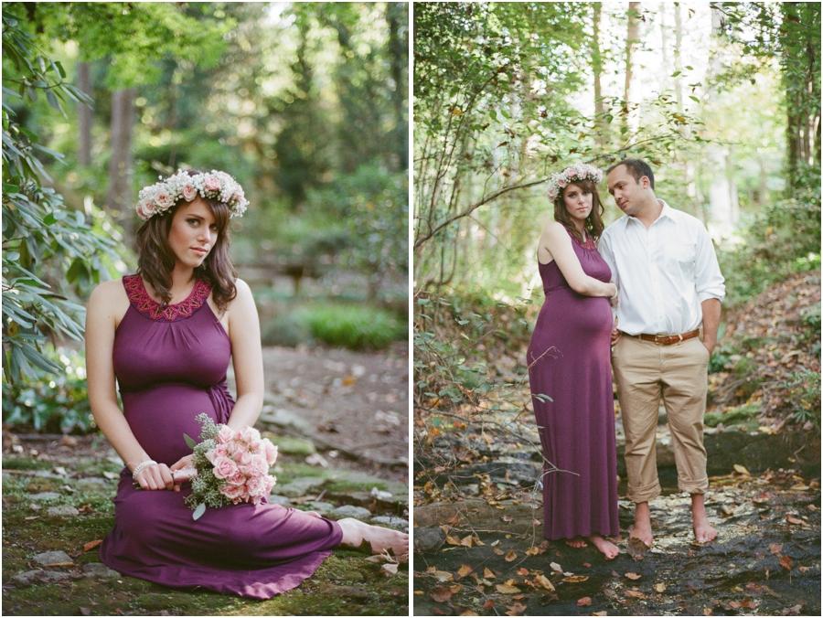 bohemian maternity photography, woodsy maternity photographers