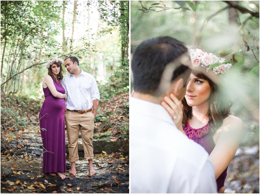 bohemian maternity photography, romantic maternity photographers