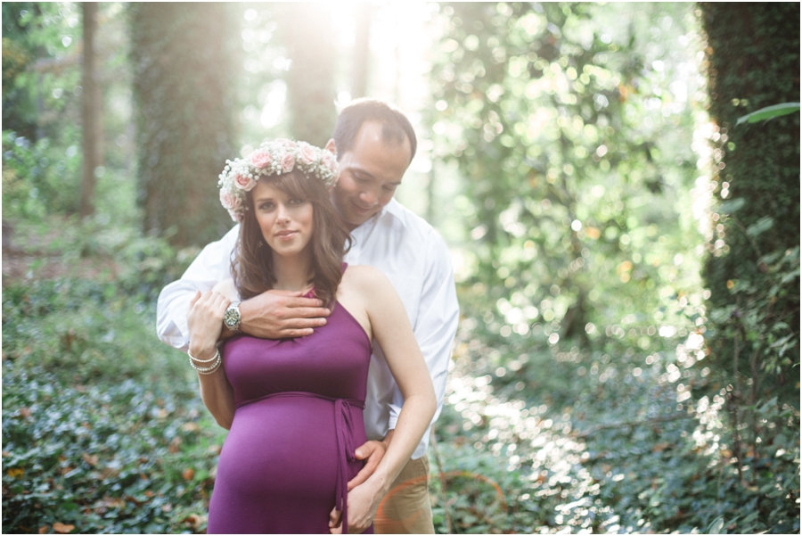 romantic outdoor maternity photography, raleigh nc