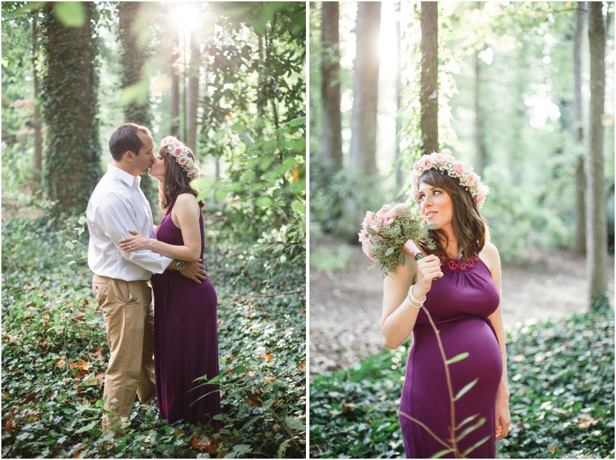 romantic bohemian photography, southern maternity photographers