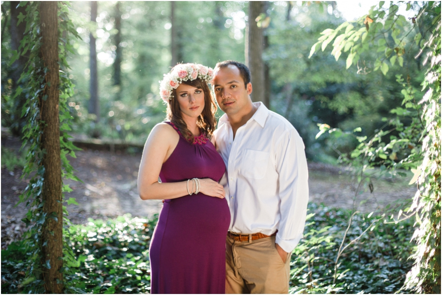 woodsy maternity photography, raleigh nc