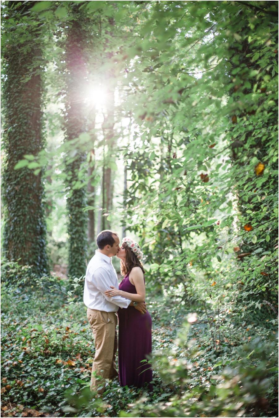 romantic bohemian maternity photography, raleigh nc
