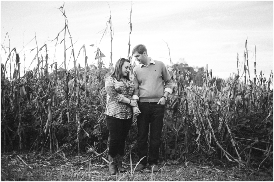 black and white engagement photography, raleigh nc