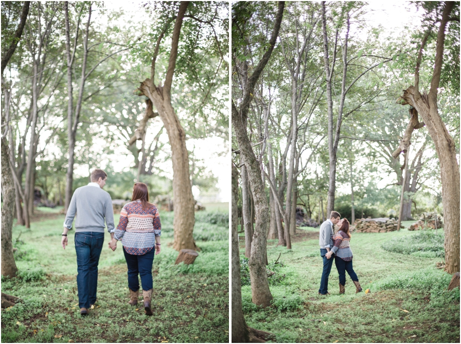 forest engagement photography, southern engagement photographers