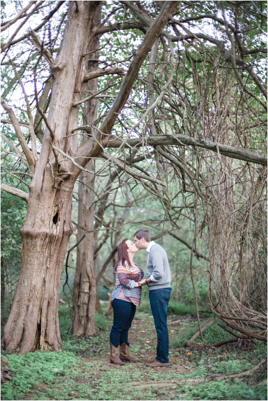 woodsy engagement photography, raleigh nc