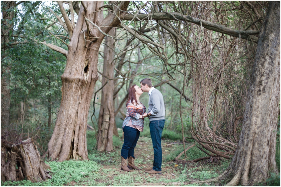forest engagement photography, raleigh nc