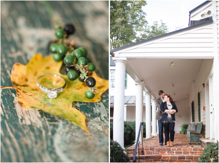 autumn ring shots, romantic southern engagement photography