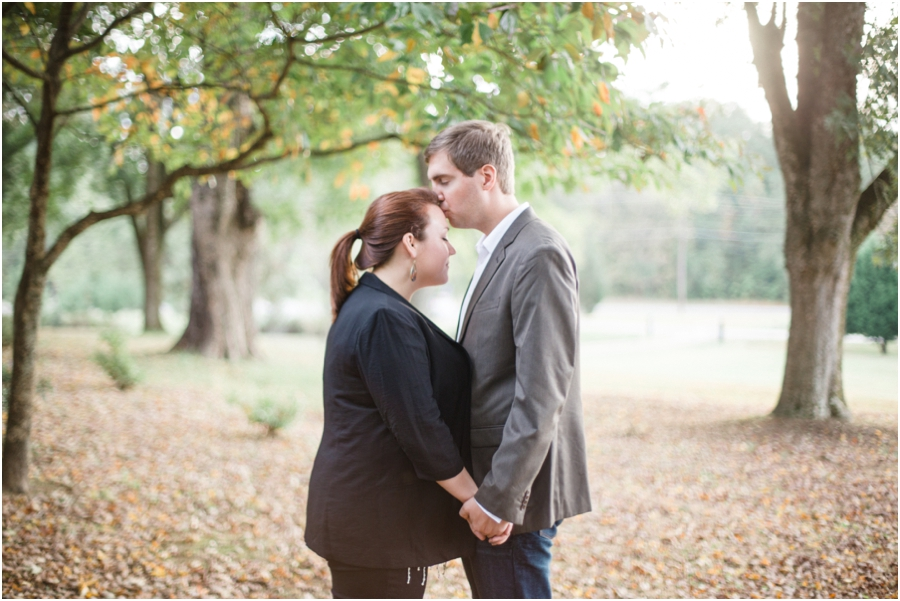 romantic fall engagement photographers, raleigh nc
