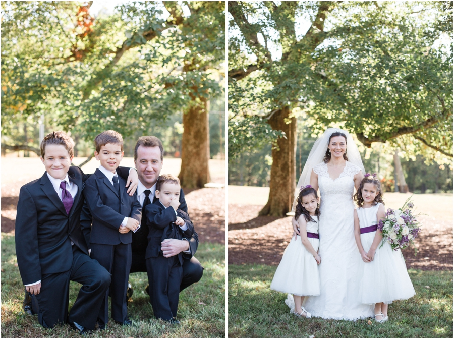 southern weddings, bride with flower girls, southern wedding photography