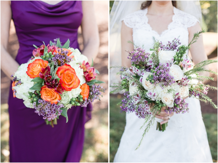 cream, coral, and lavender bridesmaid bouquet, beautiful bridal bouquet by Fleurtations