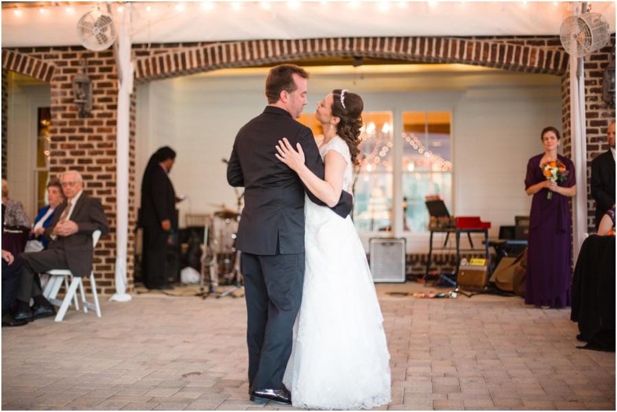 romantic wedding reception photography, raleigh nc