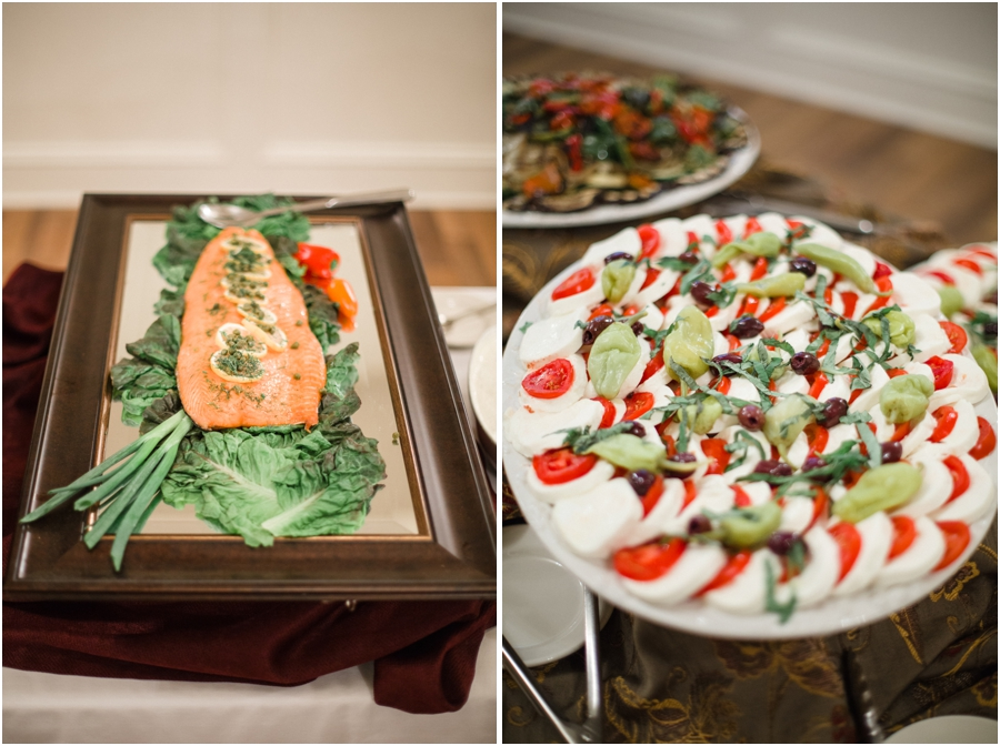 southern wedding reception food and appetizers