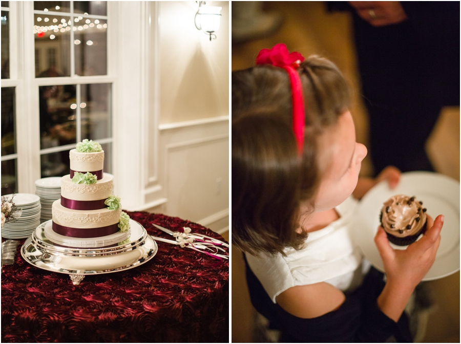 cream, purple, and light green wedding cake, southern wedding reception photography