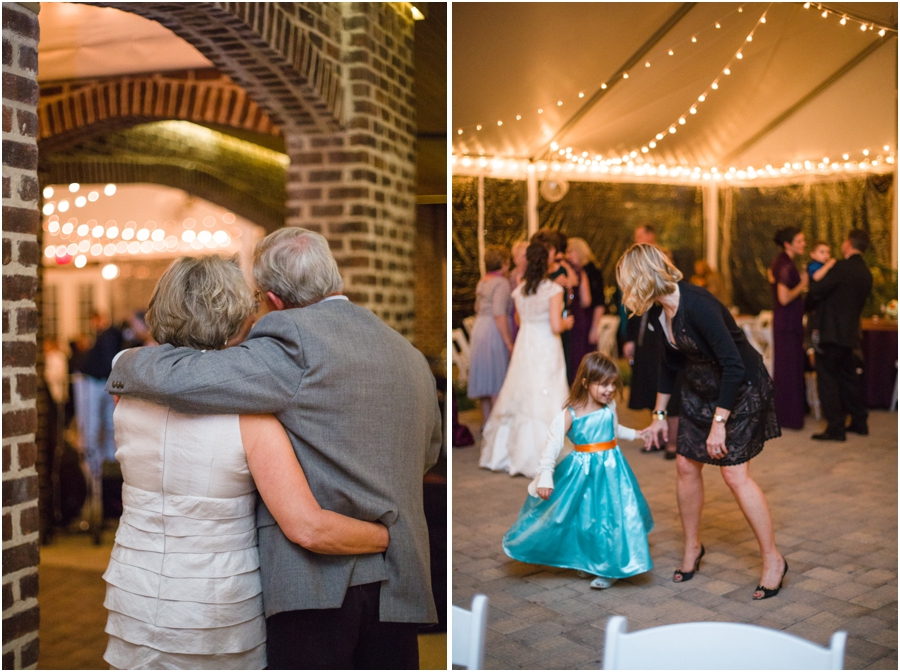 guests at wedding reception, the oaks at salem wedding photography