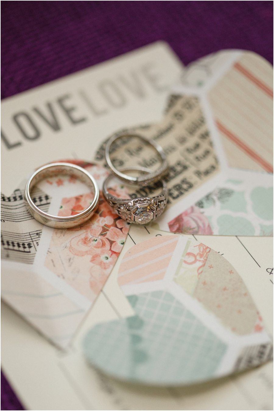 wedding rings, vintage ring photography