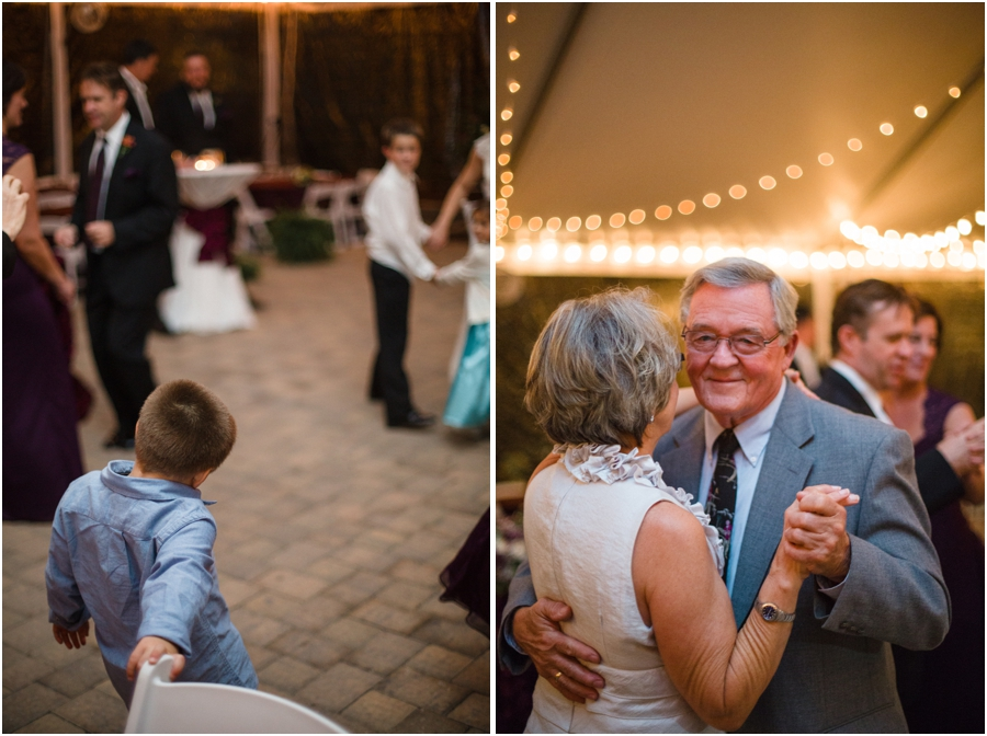 guests at wedding reception, couple dancing