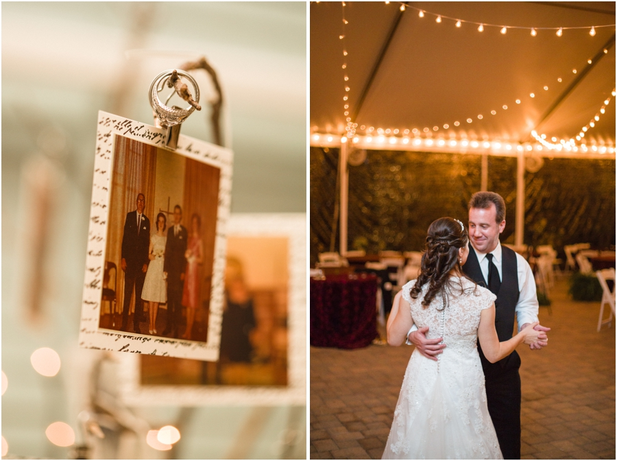 unique ring shot photography, bride and groom dancing