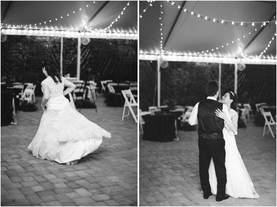 black and white wedding reception photography, romantic wedding photographers