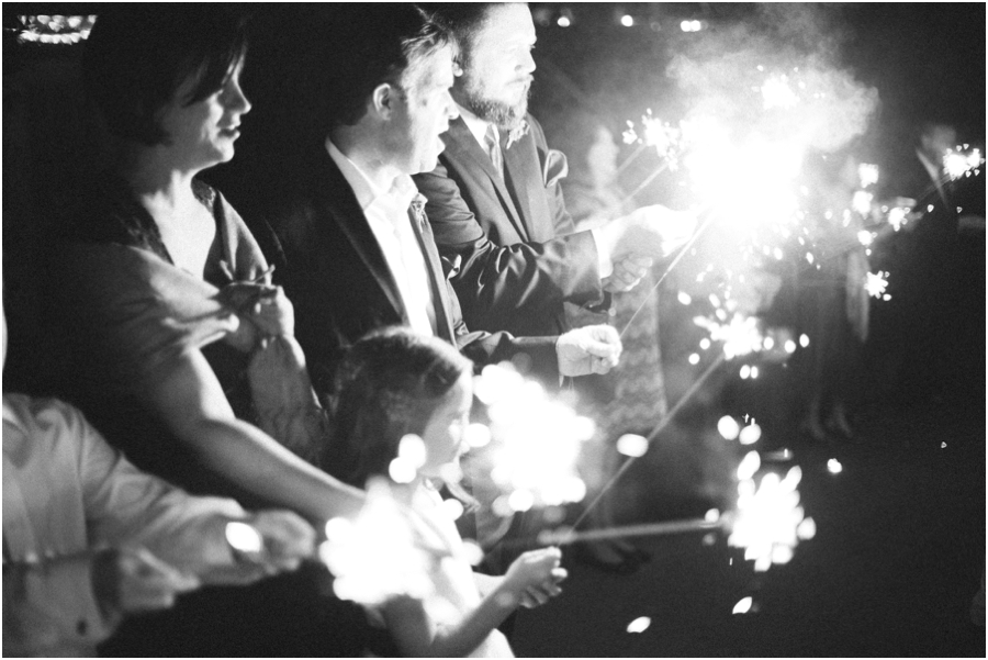 sparkler exit, southern wedding photography