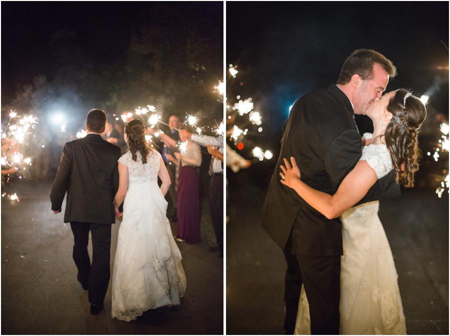sparkler sendoff, romantic wedding photography