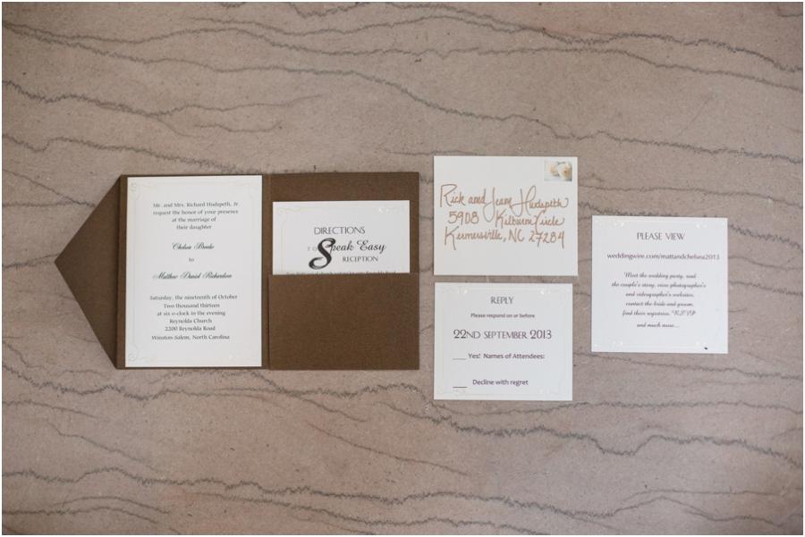 southern wedding stationary