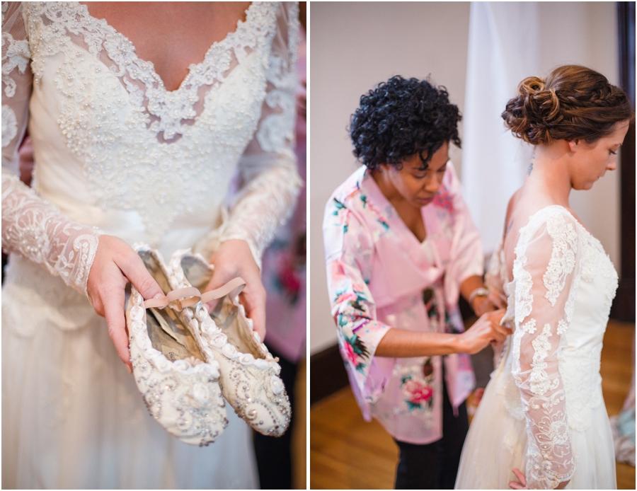 bridal ballet slippers, vintage bridal photography