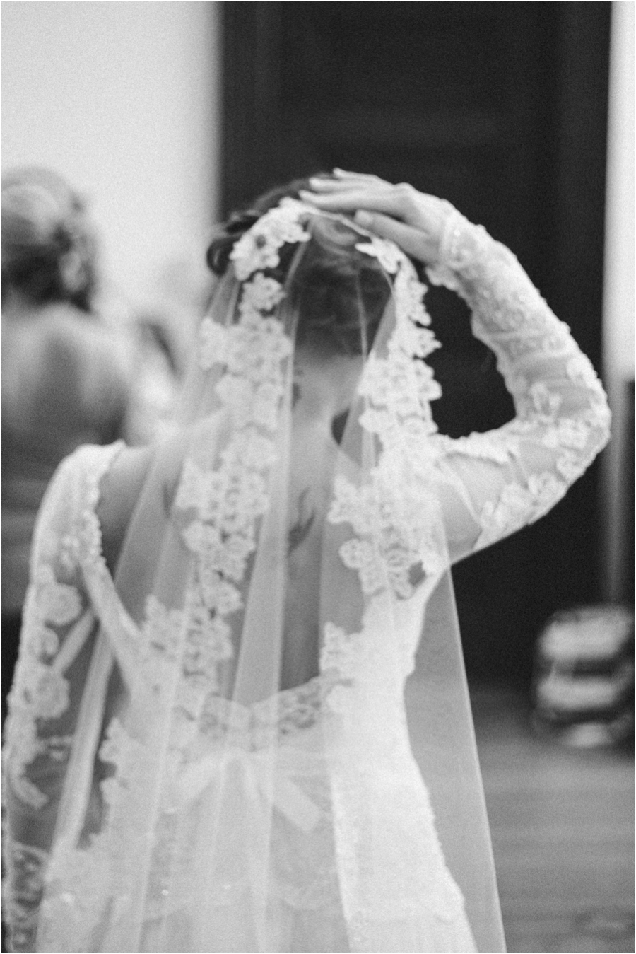 black and white bridal photography, raleigh nc