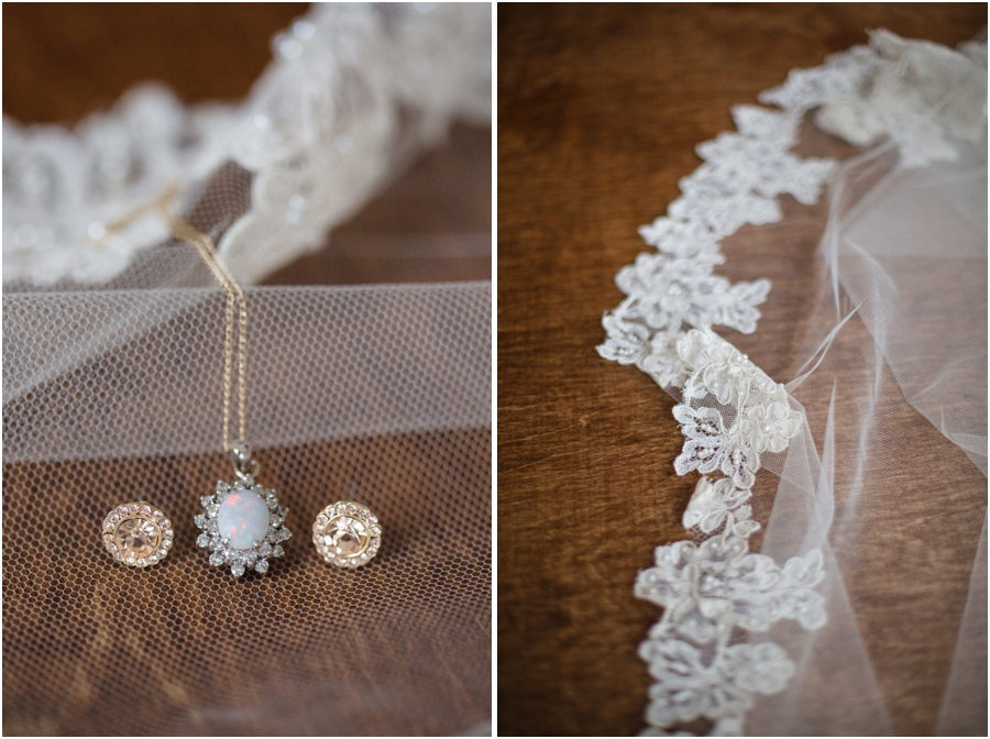 vintage bridal jewelry, lace rimmed veil, southern bridal photography
