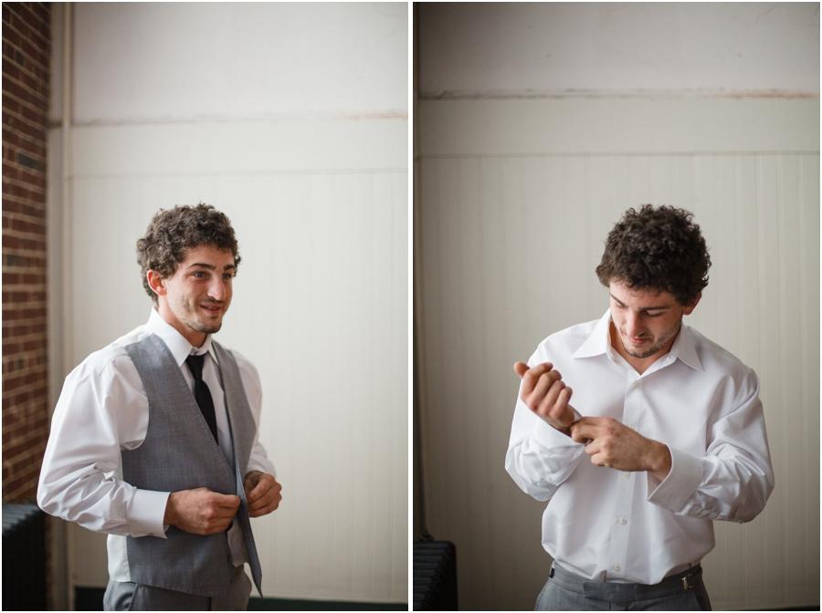 groom getting ready, vintage wedding photography