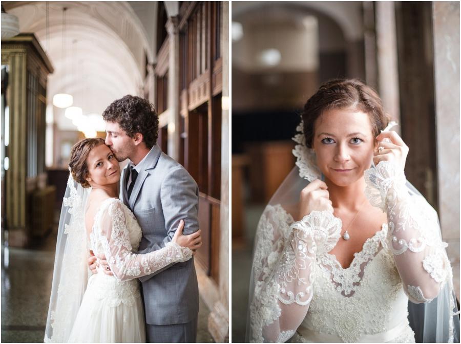 Millennium Center wedding photography, vintage bridal photographers