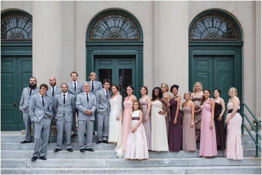 southern weddings, mismatched bridesmaid dresses