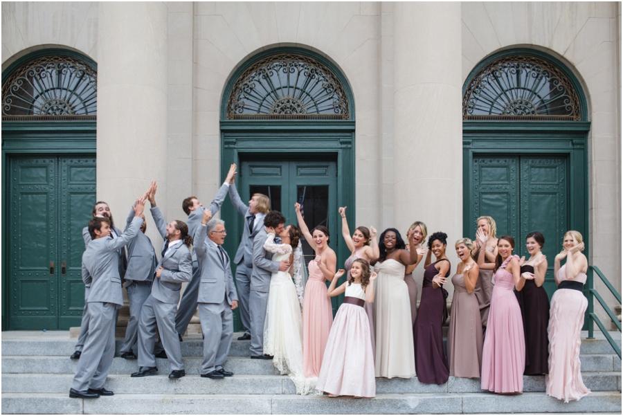 fun bridal party photography, raleigh nc
