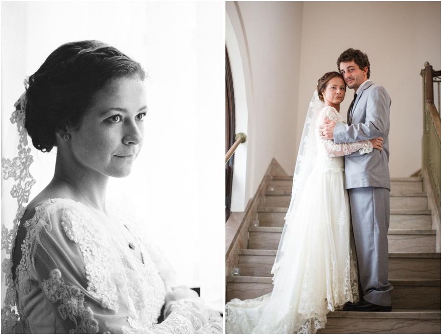 black and white bridal photography, romantic wedding photographers