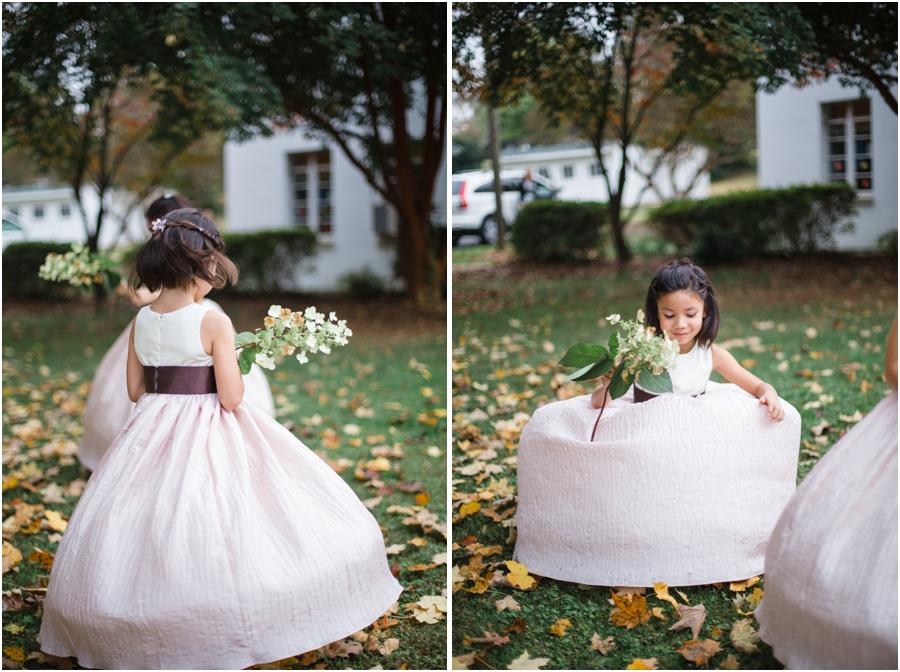 flower girl twirling, bohemian wedding photography