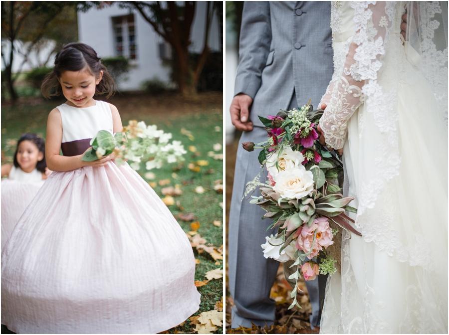 flowergirl twirling, vintage wedding photography