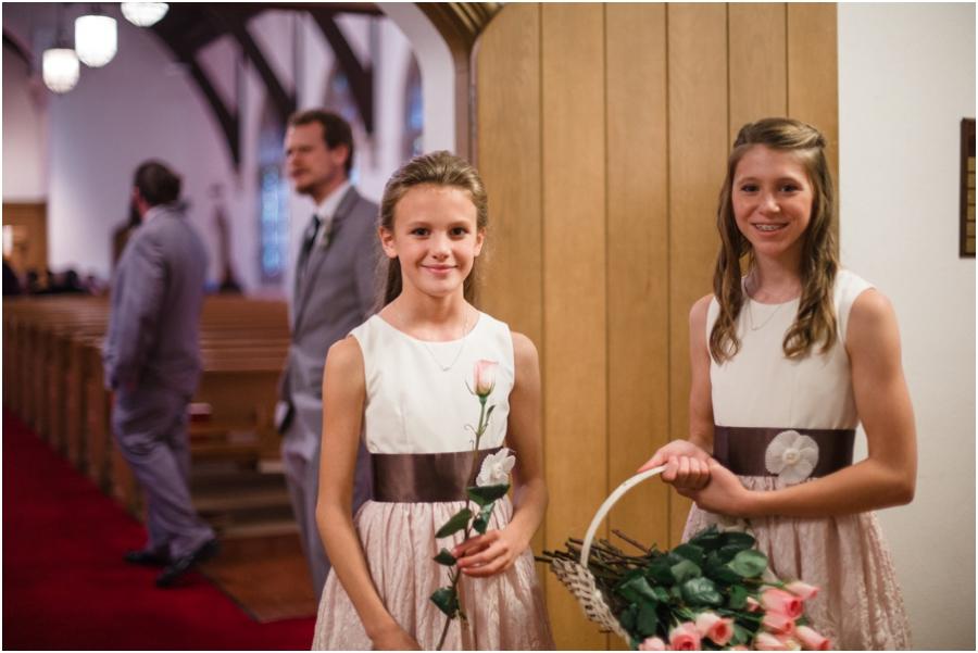junior bridesmaids at reynolda church