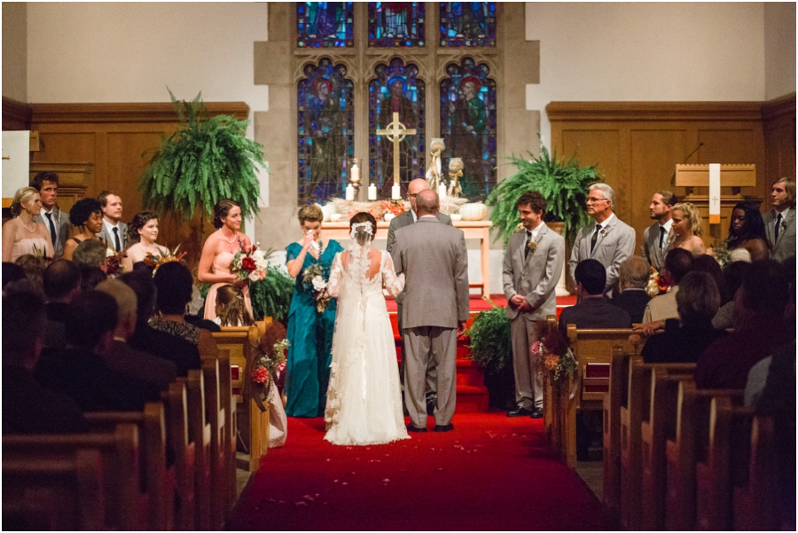 wedding at reynolda church in winston-salem nc