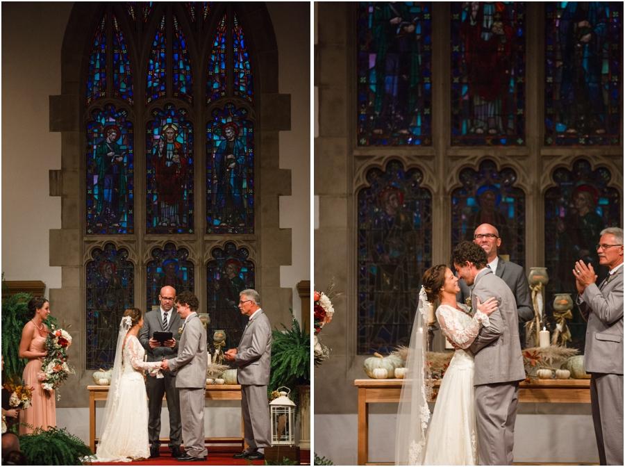 wedding at reynolda church, vintage wedding photography